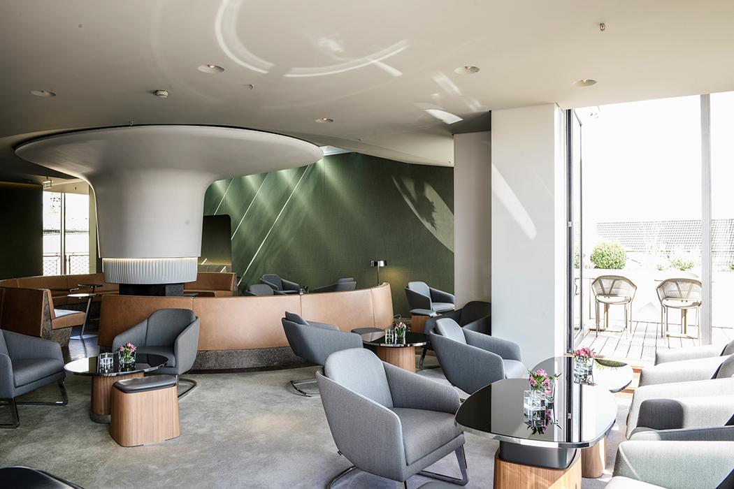 Roof garden lounge